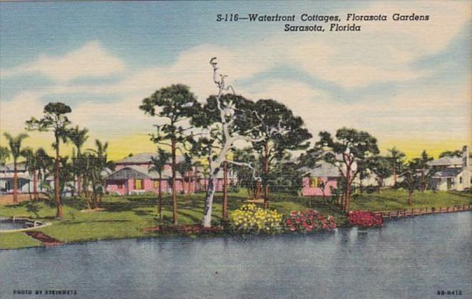 Florida Sarasota Waterfront Cottages At Florasota Gardens Curteich