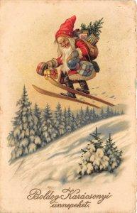 uk40844  karacsony unnepeket christmas  santa claus father christmas hungary ski