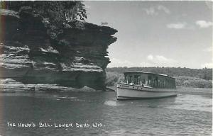 The Hawk's Bill Lower Dells Wisconsin WI Real Photo