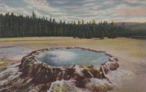 Punch Bowl Spring Upper Geyser Basin Yellowstone National Park Curteich