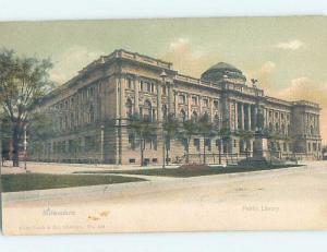 Pre-1907 LIBRARY SCENE Milwaukee Wisconsin WI d6335