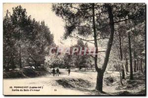Old Postcard Pornichet wood out of & # 39amour