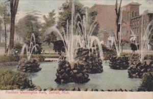 Michigan Detroit Fountain In Washington Park 1908