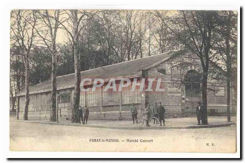 Paray Monial Old Postcard Marche covered (animated)