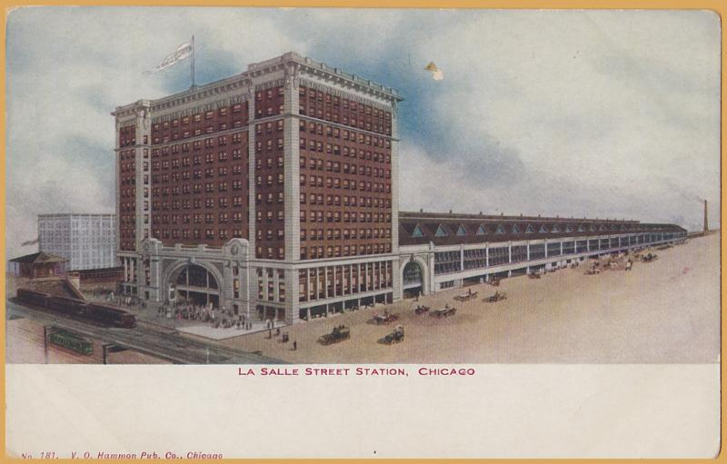 Chicago, Ill., La Salle Street Station - Trains, cars & Wagons
