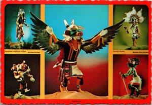 KACHINA DOLLS Collection,  1973, Chrome 4x6,Deckled Edge,Petley Card.