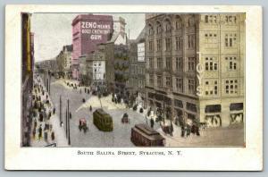 Syracuse New York~South Salina Street Trolleys~Toys~ZENO Chewing Gum~c1905