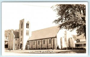 ST. JOHNS, Michigan  MI ~ M.E. CHURCH c1940s Clinton County  Postcard