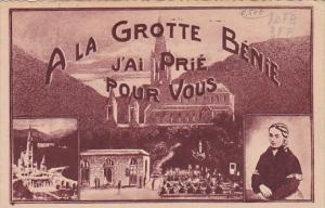 France Lourdes A La Grotte Benie J'Ai Prie Pour Vous 1945