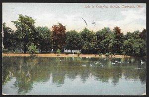 Lake In Zoological Garden Cincinnati Ohio Used c1908