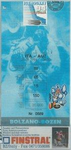 2391 -  BIGLIETTO partita vintage ticket ICE HOCKEY - 1994: ITALIA / AUSTRIA