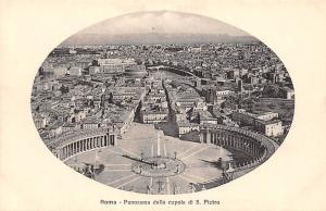 Italy Roma Panorama dalla cupola di S. Pietro Basilica Aerial view