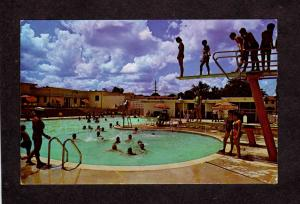 TX Pool Carswell Air Force Military Base Fort Ft Worth Texas Postcard