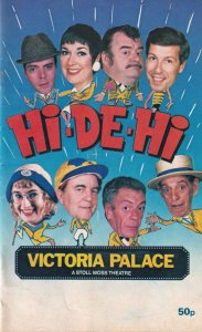 Hi De Hi RARE The Stage Show Musical Su Pollard MANY OF TV CAST Theatre Progr...