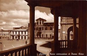 Eritrea Asmara - Nuova sistemazione di Piazza Roma, auto car, Banco