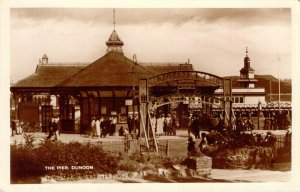 RPPC The Pier Dunoon Scotland Vtg Clothing Bicycle Unused Real Photo Postcard