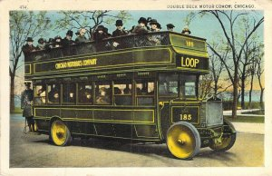 Double Deck Motor Coach, Chicago, Posted 1929