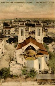 TX - San Antonio. San Fernando Cathedral, Rear View