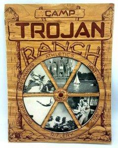 1948 Camp Trojan Ranch Boulder Colorado CO Advertising Brochure Booklet Diecut