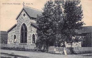 C29/ Arnot Pennsylvania Pa Postcard 1908 Christ Church Episcopal Building