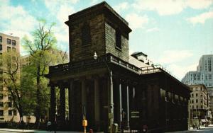 Boston, Massachusetts, MA, King's Chapel, Chrome Vintage Postcard f6923