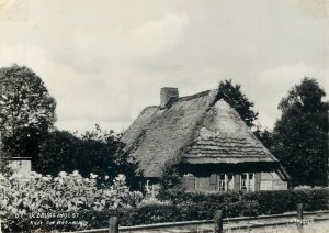 Germany Postcard Ulzburg countryside typical thatched roof house