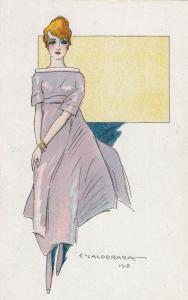 ART DECO ; CALDERARA ; Female Fashion portrait #4, 1910-20s