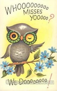 Owl Animal Postcard Post Card
