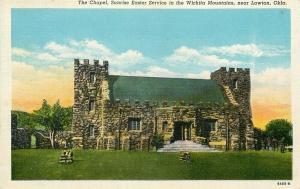 OK, Lawton, Oklahoma, Wichita Mountains, Chapel, Curteich No. 8A85-N