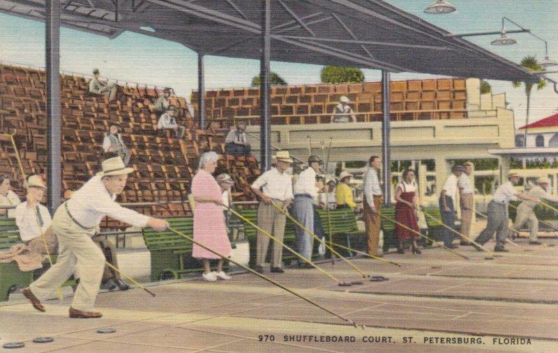 Florida St Petersburg Shuffleboard Court sk3140