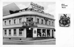 BG40557 hotel reichspost mainz real photo heraldc    germany