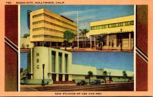 California Hollywood Radio City New Studios Of CBS and NBC