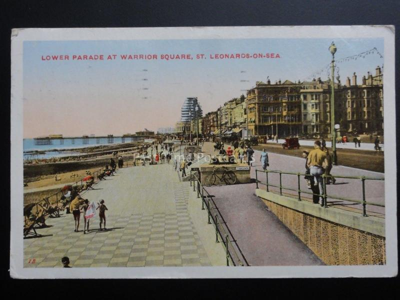 Sussex: St. Leonards on Sea - LOWER PARADE AT WARRIOR SQUARE c1949