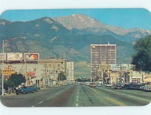Unused Pre-1980 SHOPS ALONG THE STREET Colorado Springs Colorado CO F0508