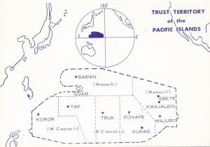 Trust Territory of the Pacific Map - Marianas Yap Palau Truk Ponape Marshall
