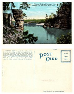 Chimney Rock and Romance Cliff, Dells of the Wisconsin River (8256)