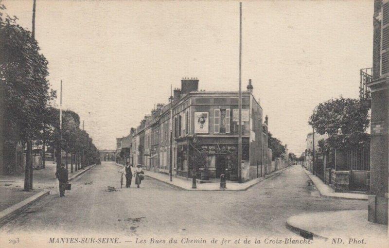 MANTES-SUR-SEINE , France , 00-10s : Les Rues du Chemin de fer et de la Croix-Bl