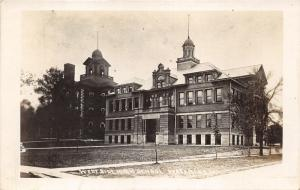 Waterloo Iowa~West Side High School~Lawn in Front~1910 RPPC Real Photo Postcard