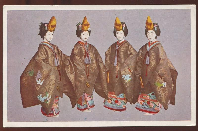 Nice Vintage Japan Postcard Four Geishas 3987