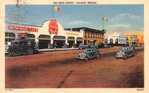 Mexico Old Vintage Antique Post Card Main Street Tijuana Postal Used Unknown,...