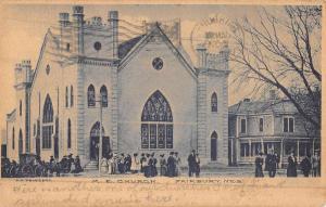 Fairbury Nebraska ME Church Street View Antique Postcard K49256