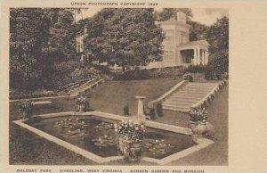 West Virginia Wheeling Oglebay Park Sunken Garden And Mansion Albertype