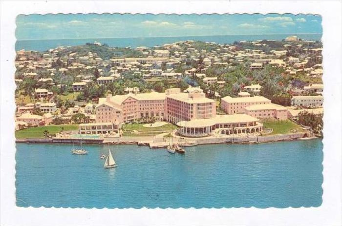 The New Princess, Overlooks Hamilton Harbour & The Yacht Basin, Bermuda, PU-1972