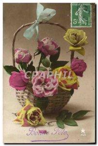 Old Postcard Fantasy Flowers