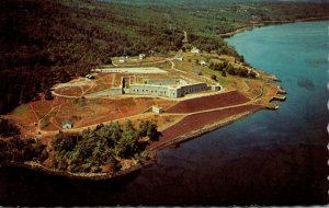 Maine Bucksport Historic Fort Knox Aerial View
