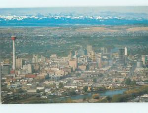 Unused Pre-1980 AERIAL VIEW Calgary ALBERTA hs7956