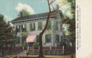 SPRINGFIELD , Illinois , 1910 ; Abraham Lincoln's Home