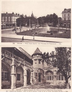 Tours Place Jean Jaures Cathedrale 2x Old French Postcard s