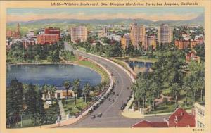 California Los Angeles Wilshire Boulevard Gen Douglas Macarthur Park