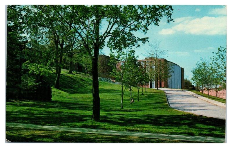 1968 Gordon Library and Kaven Hall, Worcester Polytechnic Institute, MA Postcard